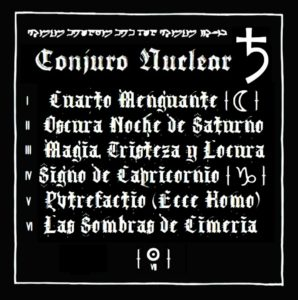 Conjuro Nuclear - ♄ (2016) - 2. Back Cover